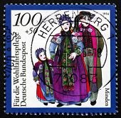 Postage Stamp Germany 1994 Family From Minden