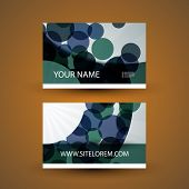Business Card with Abstract Circles Pattern