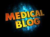 Medical Blog Concept on Digital Background.