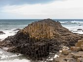 Unusual Geology At Giants Causeway Ireland