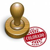 Made In Colorado Grunge Rubber Stamp