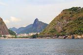Red Beach  Christ The Redeemer Morro Da Urca, Rio De Janeiro