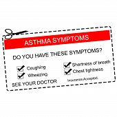 Red Asthma Symptoms Coupon