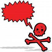 talking skull and crossbones cartoon