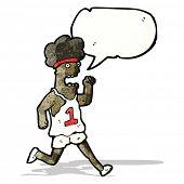 cartoon running man