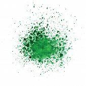 Watercolor Green Blot