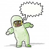 cartoon man in radiation suit