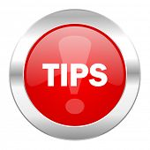tips red circle chrome web icon isolated