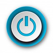 power blue modern web icon on white background