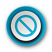access denied blue modern web icon on white background