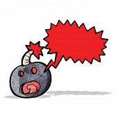 shouting bomb cartoon