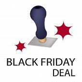 A Rubber Stamp With Word Black Friday Deal