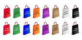Colorful Paper Shopping Bags for Cyber Monday