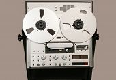 stock photo of workhorses  - German studio audio tape deck - JPG