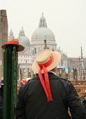 Gondolier at Grand Canal