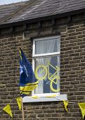 Greetland, England, Jul 06:  Yorkshire House On Hullen Edge Lane During The Stage 2 Of Le Tour De Fr