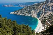 Panorimic View Of Myrtos Beach, Kefalonia