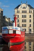 Historic Red Relandersgrund Lightship In Helsinki