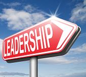 leadership follow team leader great natural business leader or market leader road sign arrow