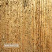 Wooden Background, Vector Illustration