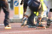 Street skate (action blurred)