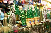 NEW YORK CITY - MARCH 27: Statue of Liberty souvenirs at a gift shop in New York on March 27, 2014