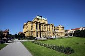 ZAGREB, CROATIA - SEPTEMBER 23: Croatian National Theatre (circa 1895) in Zagreb, Croatia. Is a theatre, opera and ballet house. Architects Ferdinand Fellner and Hermann Helmer, on September 23, 2014.