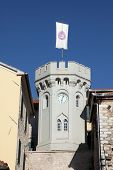 HERCEG NOVI, MONTENEGRO - JUNE, 07: Old town, Clock Tower, 1667, on June 07, 2012, in Herceg Novi, Montenegro