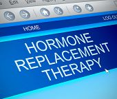 pic of hormone  - Illustration depicting a computer screen capture with a hormone replacement therapy concept - JPG