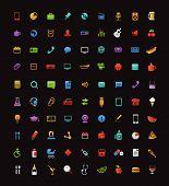Different color web icons clip-art