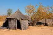Traditional rural African reed and thatch hut, Caprivi region, Namibia