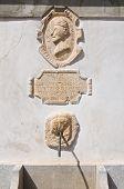 Monumental fountain. Morano Calabro. Calabria. Southern Italy.