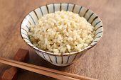 boiled brown rice, healthy japanese food