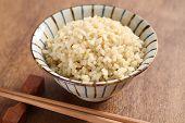 boiled brown rice, healthy japanese food