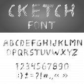Handwritten Pensil Alphabet Font