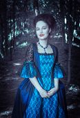 Beautiful Woman Vampire In Medieval Dress