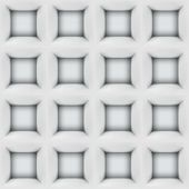 White abstract cubes 3D seamless pattern background