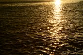 Sunlight reflection on the water