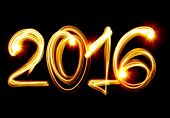 Happy New Year 2016 by light