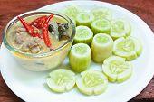Simmer Pork Chops With Cucumber.