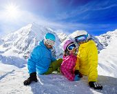 foto of family ski vacation  - Skiing - JPG