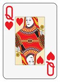 Jumbo index queen of hearts playing card