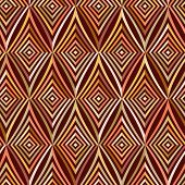 Seamless Pattern. Modern Stylish Texture. Repeating Geometric Tiles With Brown Striped Rhombus.