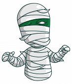 picture of mummy  - Green mummy with white bandages - JPG