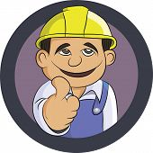 friendly Engineer smiling thumbs up and wearing uniform