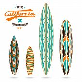 Retro Vintage Prints For Surfboards