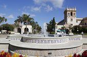 Plaza de Panama Fountain in Balboa Park in San Diego