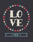 Love Vintage Background - Valentin's day card
