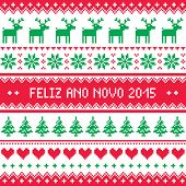 Feliz Ano Novo 2015 - Portuguese happy New Year pattern