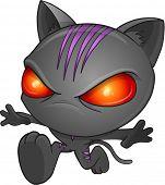 Ninja Cat Vector Illustration Art